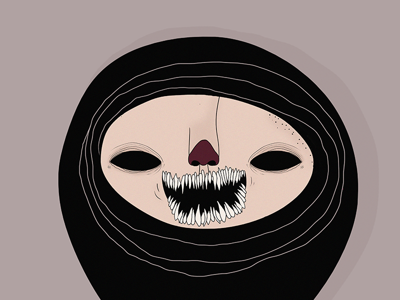 Teeth photoshop illustration character monster teeth