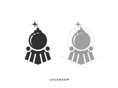 Locomotive boom logo locomotive boom inspiration