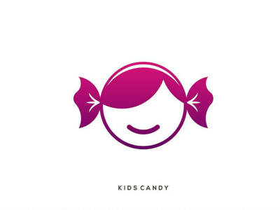 Kids candy logo candy kids combination
