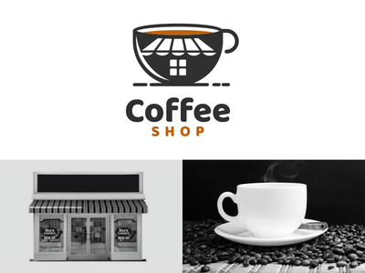 coffee shop shop coffee coffeeshop inspiration rendycemix combination forsale vector brand branding design logo