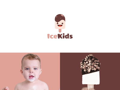ice kids identity modern kids ice graphic graphic design logo design combination logo combination color inspiration illustration graphicdesigns vector logodesign forsale branding brand design logo