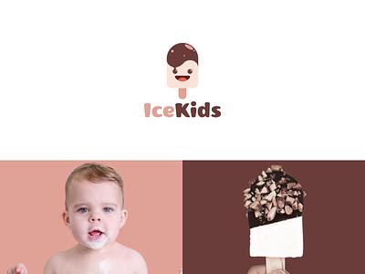 ice kids identity modern kids ice graphic graphic design logo design combination logo combination color inspiration illustration graphicdesigns vector logodesign forsale branding brand design logo