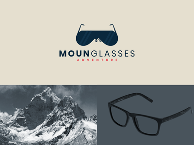 mounGlasses concept clean simple icon adventure glasses mountain logo dual meaning modern rendycemix combination inspiration illustration vector logodesign branding brand graphicdesigns design logo