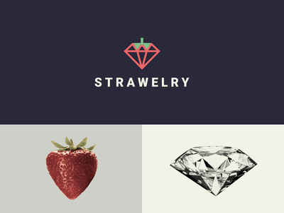 strawberry clean icon brand identity simple logo dualmeaning shop jewelry strawberry modern combination logo inspiration graphicdesigns vector rendycemix forsale logodesign branding brand design logo