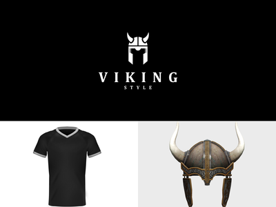 VIKING STYLE simple modern simple logo icon dualmeaning combination logo fashion style tshirt viking rendycemix illustration inspiration graphicdesigns vector logodesign branding brand design logo