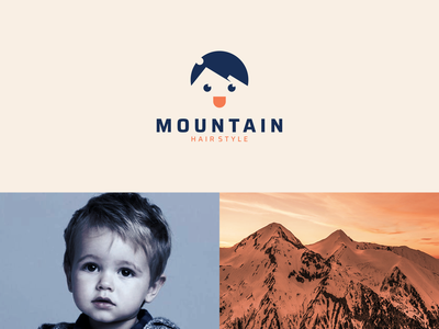 mountain hair style haircut icon company combination logo dual meaning logo simple style hair mountain modern rendycemix inspiration vector graphicdesigns forsale logodesign branding brand design logo