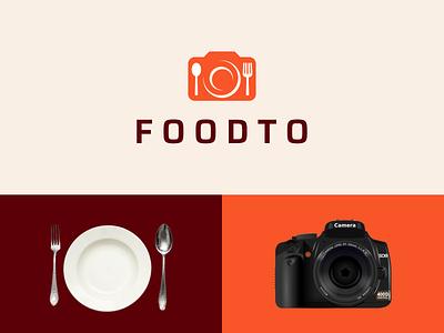 FOODTO company cutlery icon modern graphic design photo simple dual meaning logo combination logo food ux ui illustration vector graphicdesigns logodesign branding brand design logo