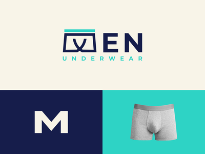 MEN Underwear icon graphic design inspiration company simple dual meaning combination logo underwear man modern ux ui illustration vector graphicdesigns logodesign branding brand design logo