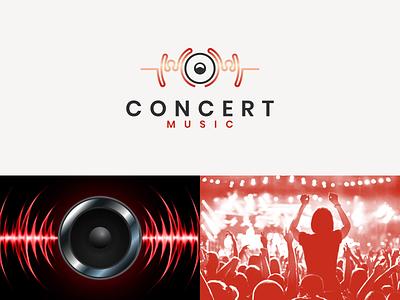 CONCERT Music initiallogo rendycemix graphic design icon simple concert music dual meaning logo combination logo modern ux ui illustration vector graphicdesigns logodesign branding brand design logo