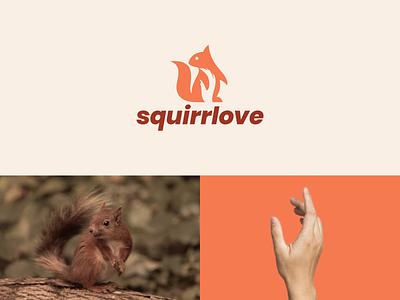 Squirrlove love graphic design rendycemix company logo simple hand squirrel dual meaning logo combination logo modern ux ui illustration vector graphicdesigns logodesign branding brand design logo