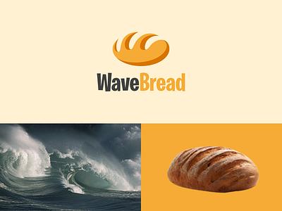WaveBread graphic design inspiration art modern logo combination logo dual meaning logo simple company bread wave ux ui illustration vector graphicdesigns logodesign branding brand design logo