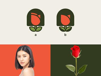 women rose simple logo graphic design simple combination logo dual meaning logo company logo modern women rose ux ui illustration vector graphicdesigns logodesign branding brand design logo