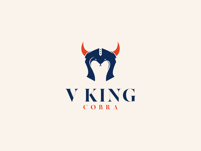V king Cobra modern dual meaning negative space symbol animal cobra king viking motion graphics graphic design ui ux illustration vector graphicdesigns logodesign branding brand design logo