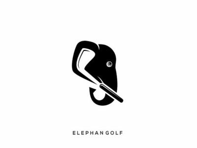 Elephan golf elephant golf creative