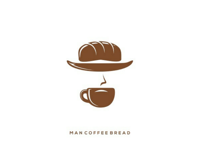 Man coffee bread coffee bread man