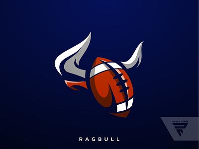 Ragbuul esport inspiration logo combination bull ragby