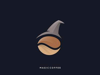 Magic Coffee inspiration rendycemix combination logoinspiration design witch coffee logo