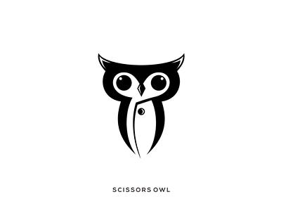 Scissors owl rendycemix scissors owl combination inspiration design logo