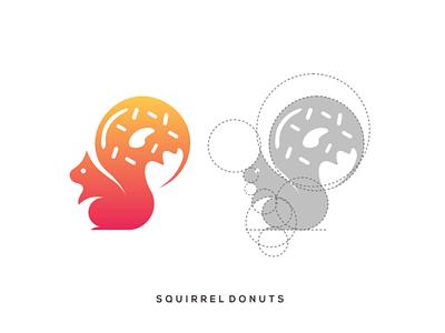 Squirrel Donuts logo squirrel donut inspiration