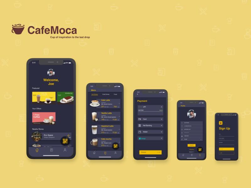 CafeMoca - UI Designs
