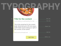 Typography for a Recipe App