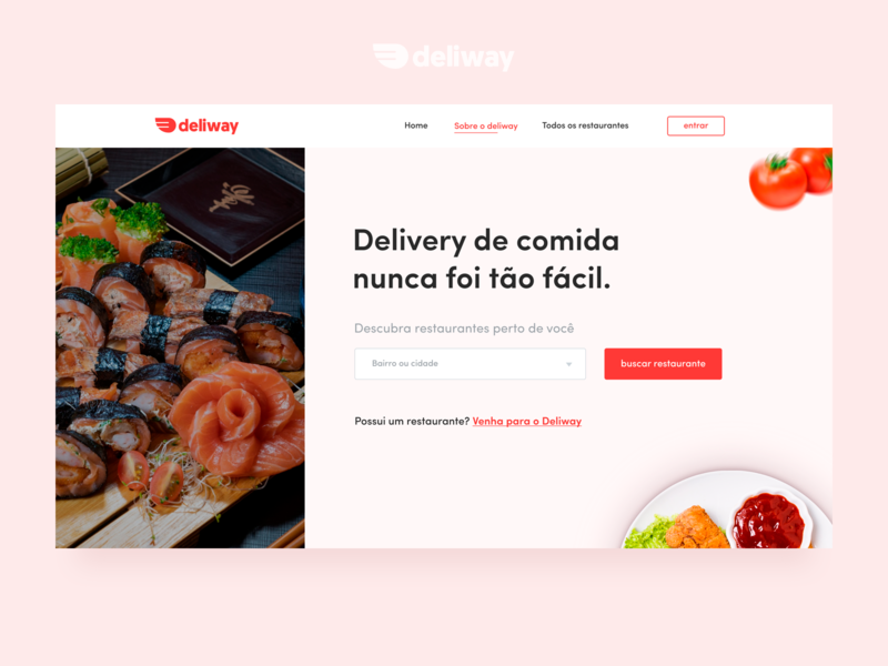 Website - Deliway Delivery de Comida