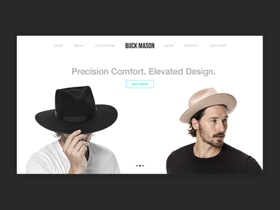 Buck Mason Webpage Portfolio 800x600
