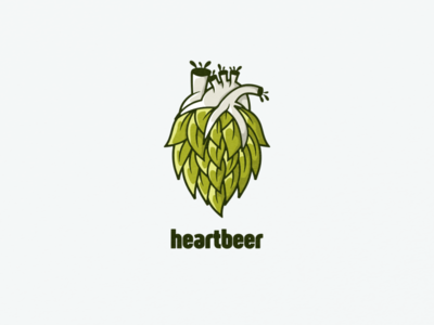 heartbeer icon ui app flat illustration branding animation vector design logo