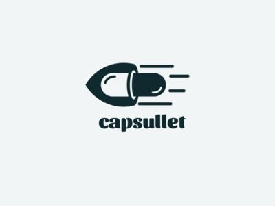 capsullet fire bullet capsule icon illustrator app flat illustration branding animation vector design logo
