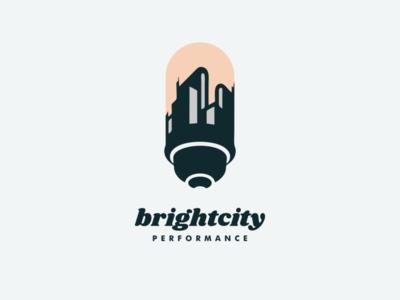 brightcity lamp city bright illustrator ui icon app flat illustration branding animation vector design logo