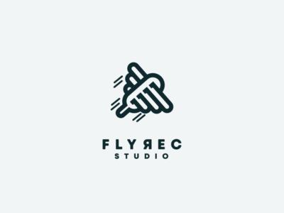 wings and mic logo combination mic music record flying fly illustrator ui icon app flat illustration branding animation vector design logo