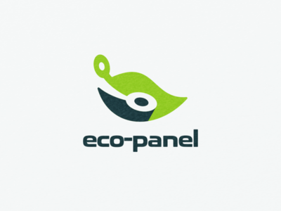Ecopanel logo combination natural storm panel leaf eco ui icon app flat illustration branding animation vector design logo