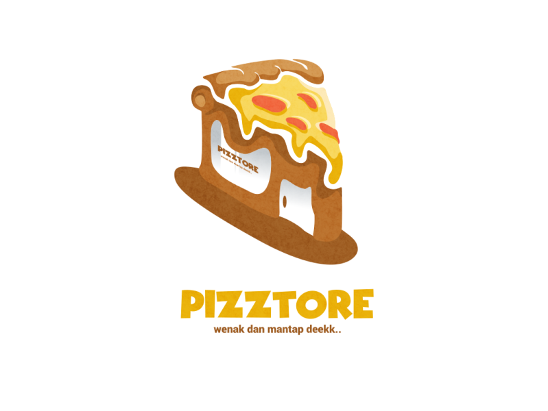 pizztore logo by bernadif dion on dribbble dribbble