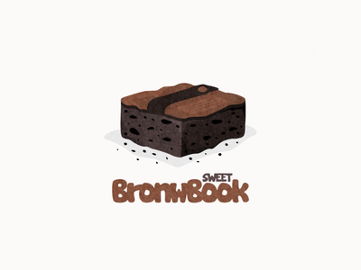 Brownie and book logo combination chocolate food brownie book combination mascot vector design logo