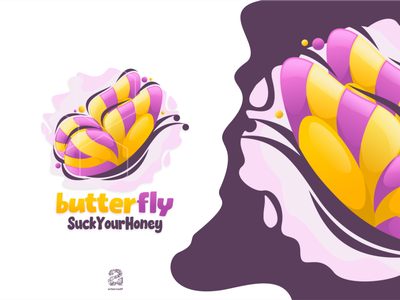 Butterfly colorful butterfly typography ui ux flat illustration branding animation vector design logo