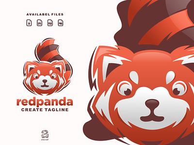 redpanda redpanda animals panda cartoon ui typography ux flat illustration branding animation vector design logo