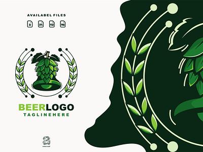 Beer logo beer typography ux ui flat illustration branding animation vector design logo