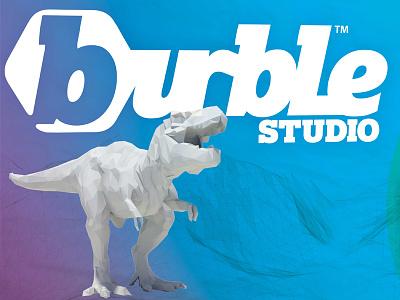 Burble Studio designer hire me logo debut
