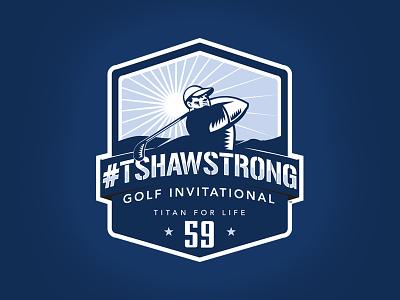 #TShawStrong Charity Golf Tourney Logo logo design