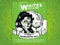 Whites Margarita Mix Label Design