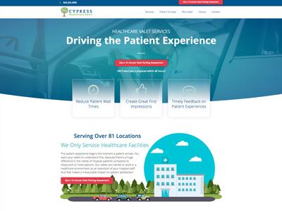 HealthcareValet.com wordpress website ui design web design