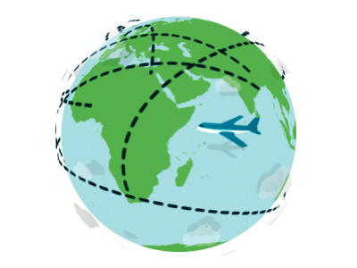 Around The World We Go mp4 video vector icon animation travel airplane globe nashville motion graphics after effects animation