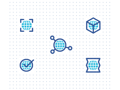 Global Icon Set blue icon set globe icons