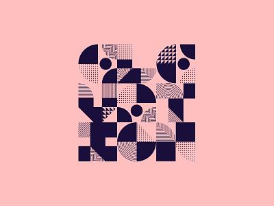 Elevation Shapes design geometric shapes elevation lettering illustration
