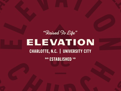 Raised to Life lockup badge typography church