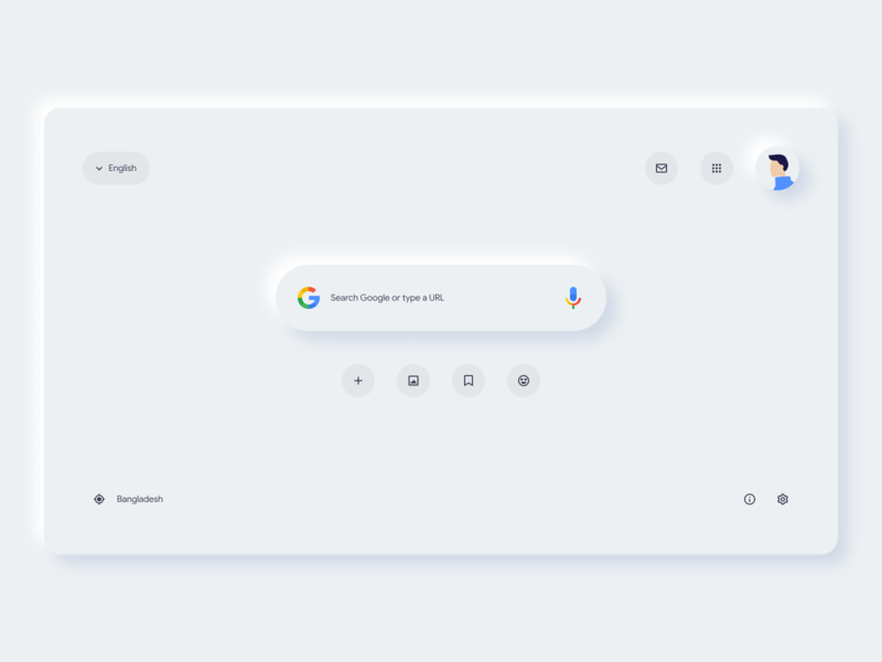 Google Search Page Redesign Concept 2.0 neumorphism neumorphic dribble concept design branding brand minimal icons outline icons outline ligt ux design ui design concept redesign ux ui page google search google