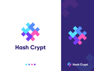 Hash Crypt - Logo modern encryption hash programming code software development website software abstract minimalistic brand design branding brand identity icon flat concept vector logo concept design dribbble