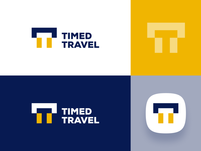 Timed Travel - Logo Design location map travel minimal software app modern monogram visual identity abstract brand design branding brand identity icon flat concept vector logo concept design dribbble