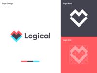 Logical - Logo Design visual identity minimal calculator logic website online solve mathermatics math modern brand design branding brand identity icon flat concept logo vector concept design dribbble