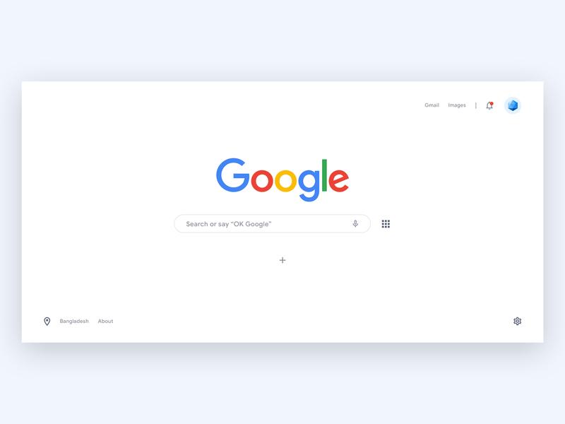 Google Search Page Redesign Concept web concept design material minimal ux design uidesign search google